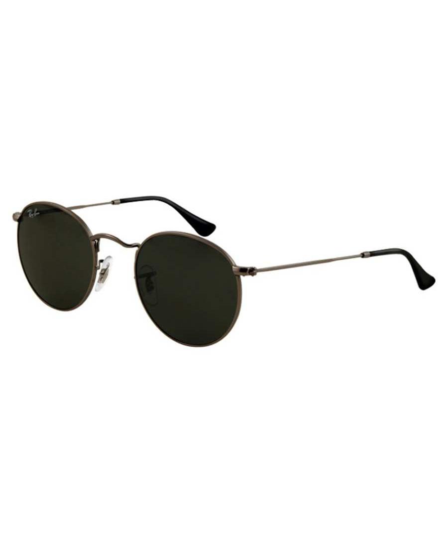 ray ban black round metal sunglasses designer accessories. Black Bedroom Furniture Sets. Home Design Ideas