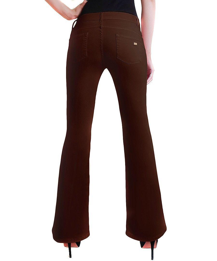 Peachy Pink Chocolate brown bootcut jeans Designer Trousers u0026 Jeans Sale Outlet  SECRETSALES