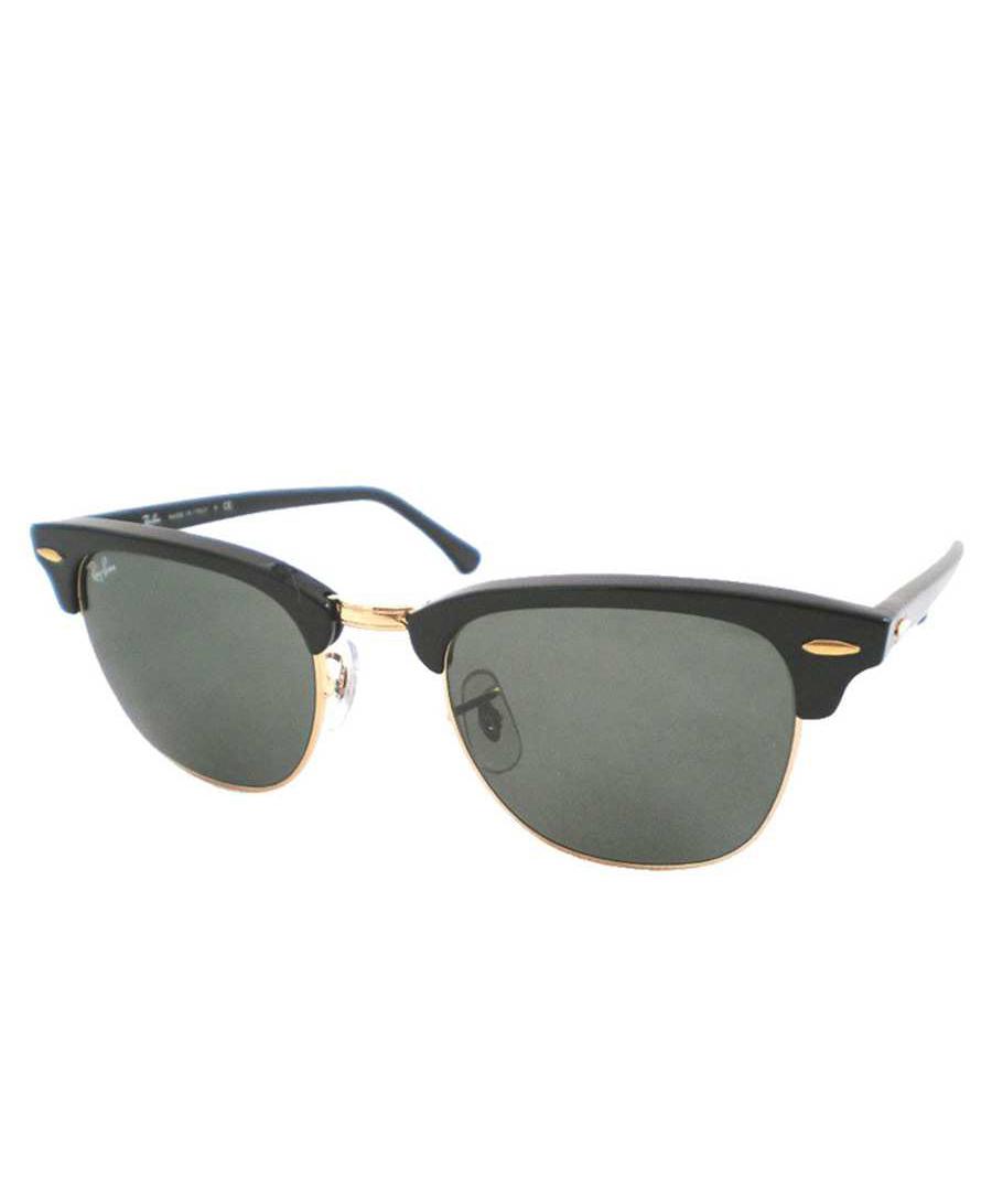 ray ban clubmaster black gold tone sunglasses designer accessories sale ray ban secretsales. Black Bedroom Furniture Sets. Home Design Ideas