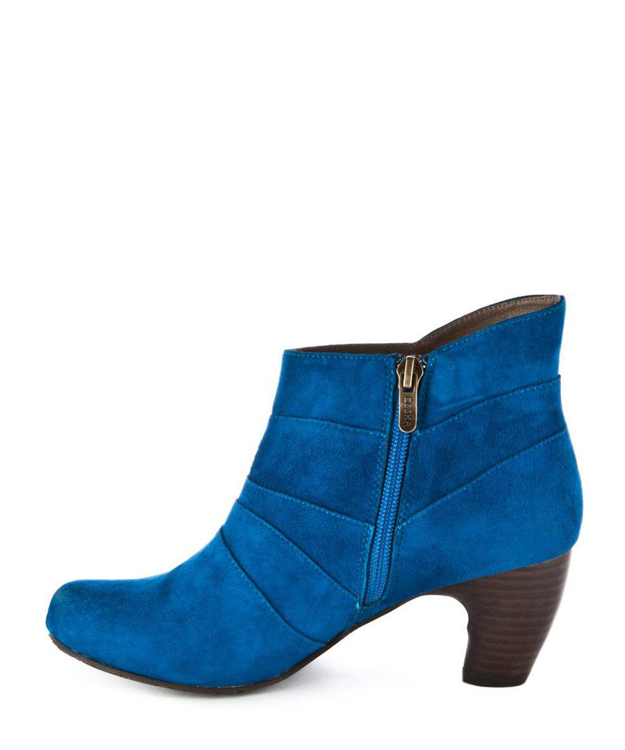 hoola electric blue leather ankle boots sale esska sale