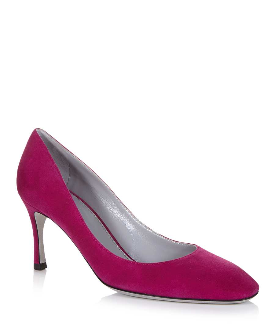 sergio fuschia suede court shoes designer footwear