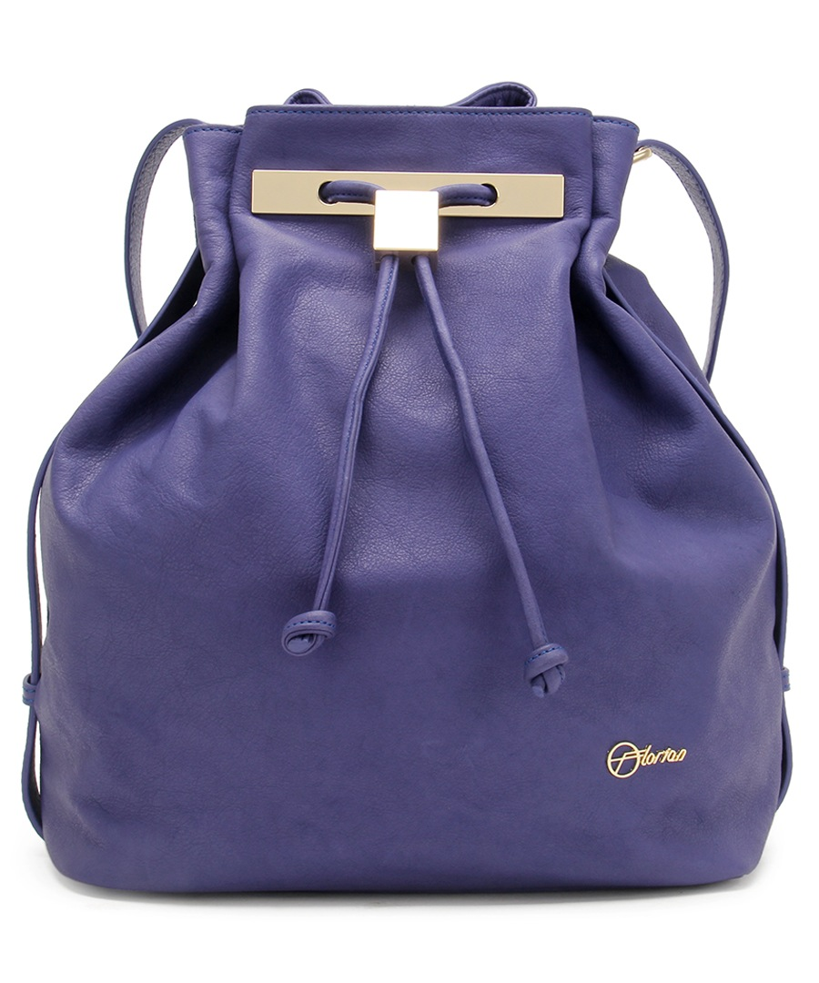 Mahiki purple leather bucket bag Sale - Florian London