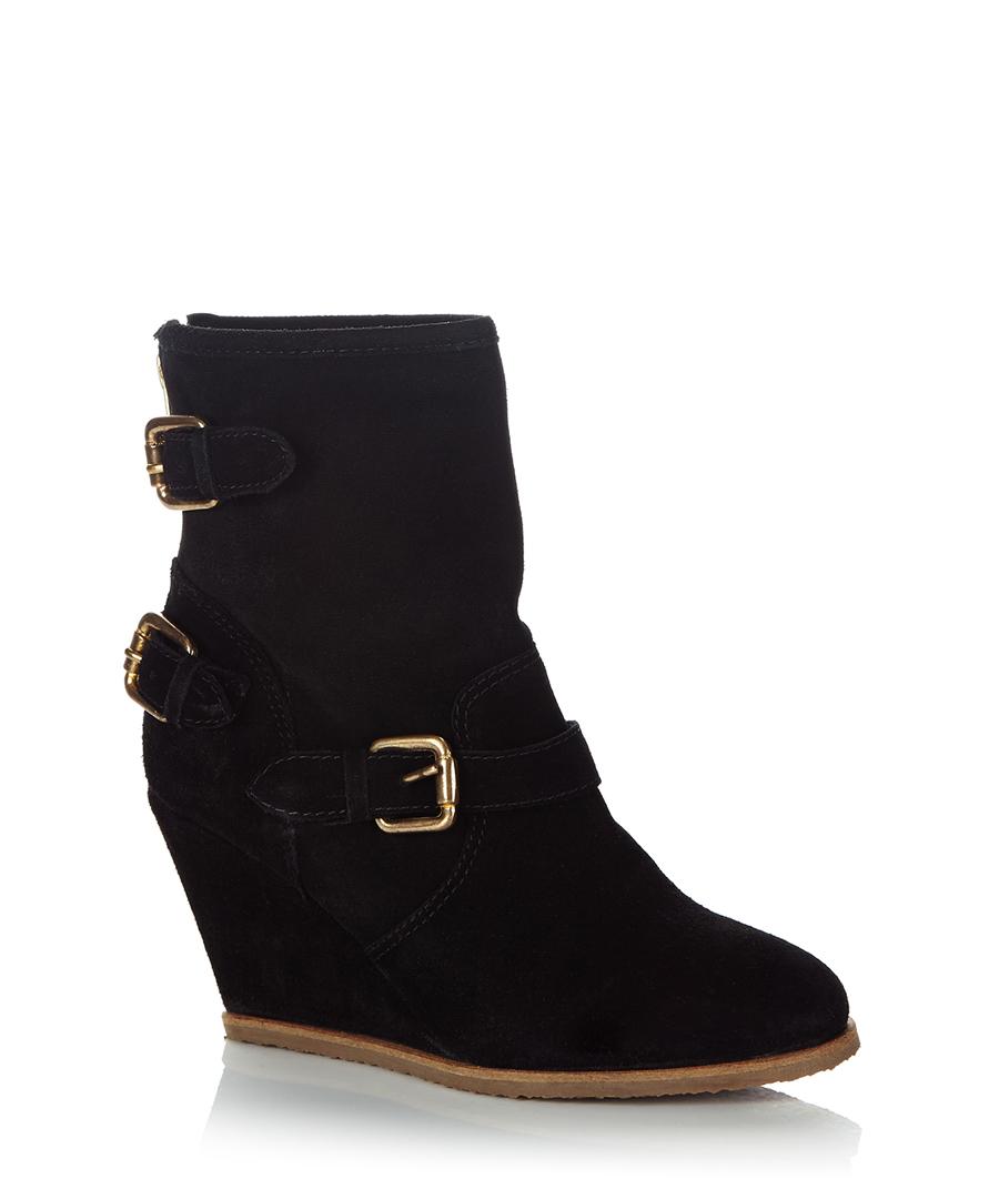 dune pope black suede ankle boots designer footwear sale