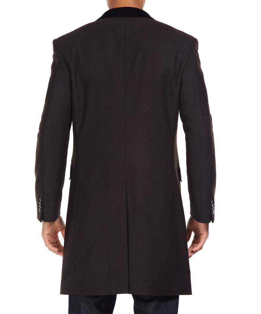 ben sherman brown herringbone crombie coat designer jackets sale new season coats secretsales. Black Bedroom Furniture Sets. Home Design Ideas