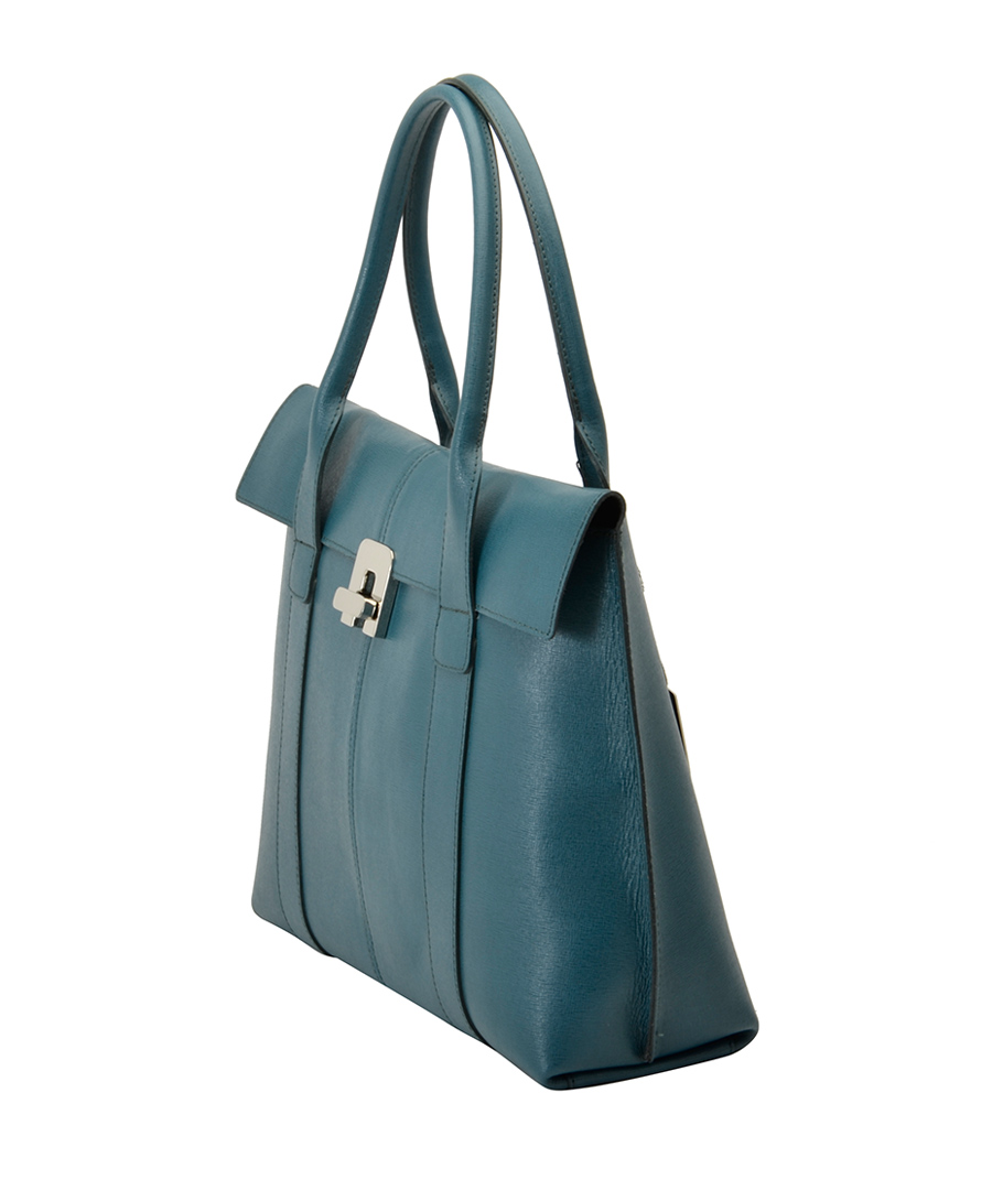 Maria Elga blue leather handbag Sale - Bright Bags Sale