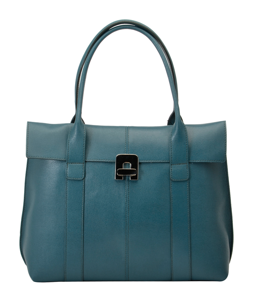 Maria Elga blue leather handbag Sale - Bright Bags
