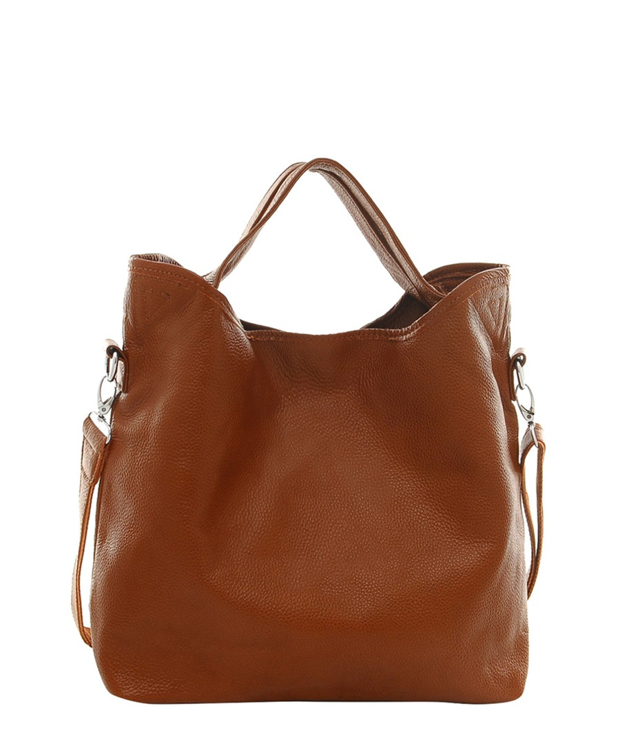 Cannci Brown Leather Large Slouch Bag Designer Bags Sale