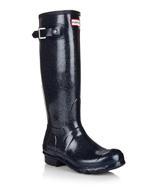 Women's navy glitter wellingtons Sale - Hunter Sale