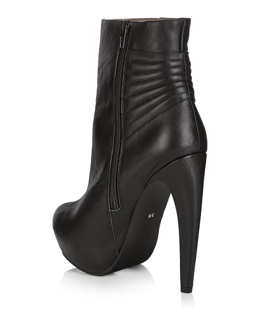 jeffrey campbell jonsey black leather boots designer footwear sale outlet secret sales. Black Bedroom Furniture Sets. Home Design Ideas