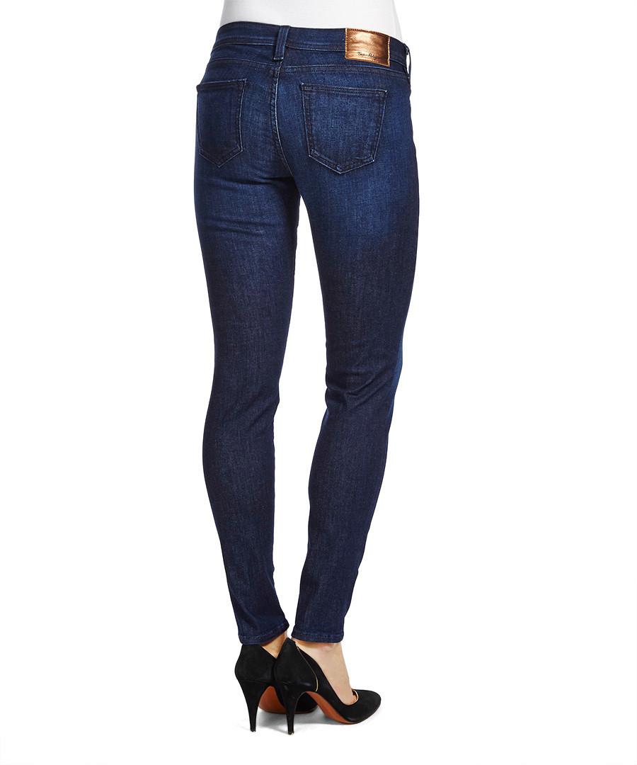 true religion halle blue cotton blend skinny jeans. Black Bedroom Furniture Sets. Home Design Ideas