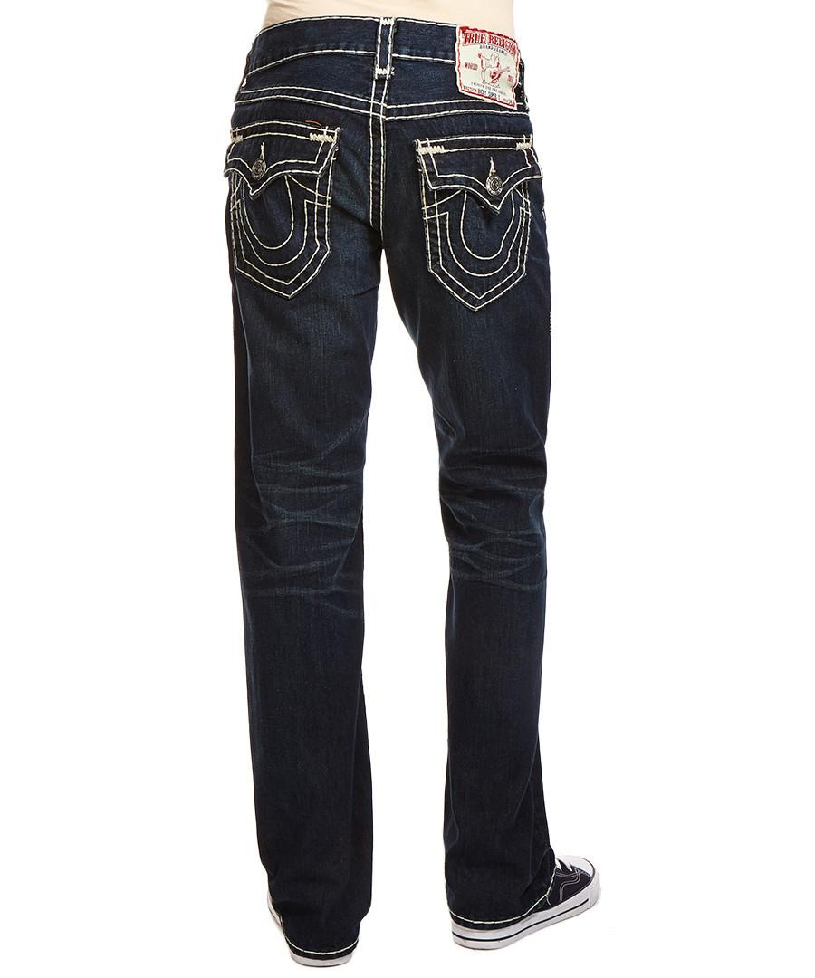 true religion ricky super t dark blue jeans designer. Black Bedroom Furniture Sets. Home Design Ideas