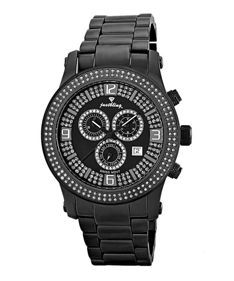 Lynx black steel diamond watch Sale - JBW