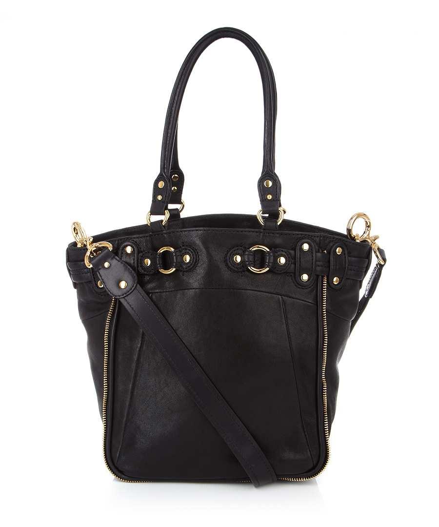 Juicy Couture Leather shoulder bag in black, Designer Bags ...