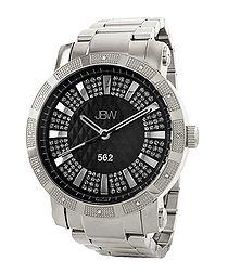 562 silver-tone diamond watch