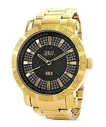 562 18ct gold-plated diamond watch