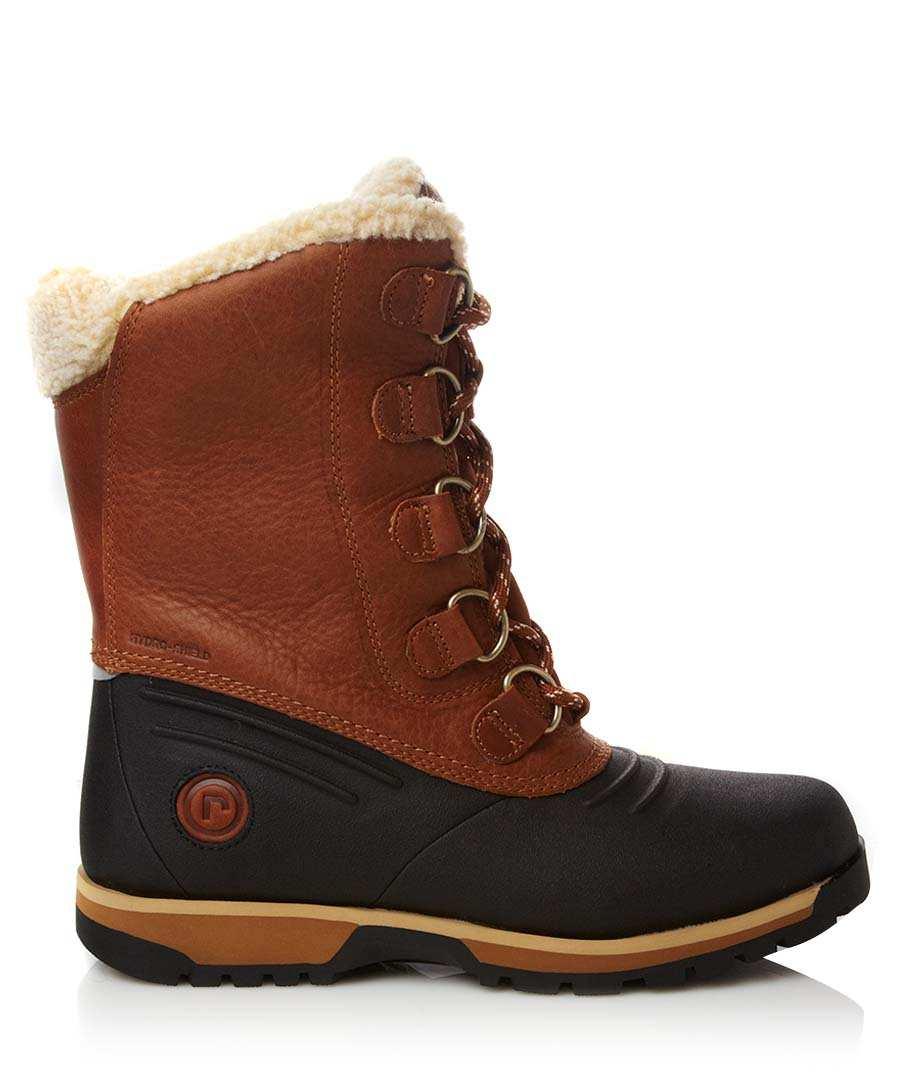 Rockport Brown leather snow boots, Designer Footwear Sale