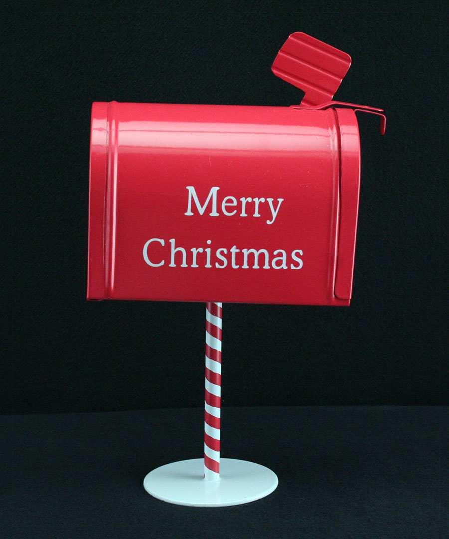 Post Box Christmas Decorations Merry Christmas Tin Post Box