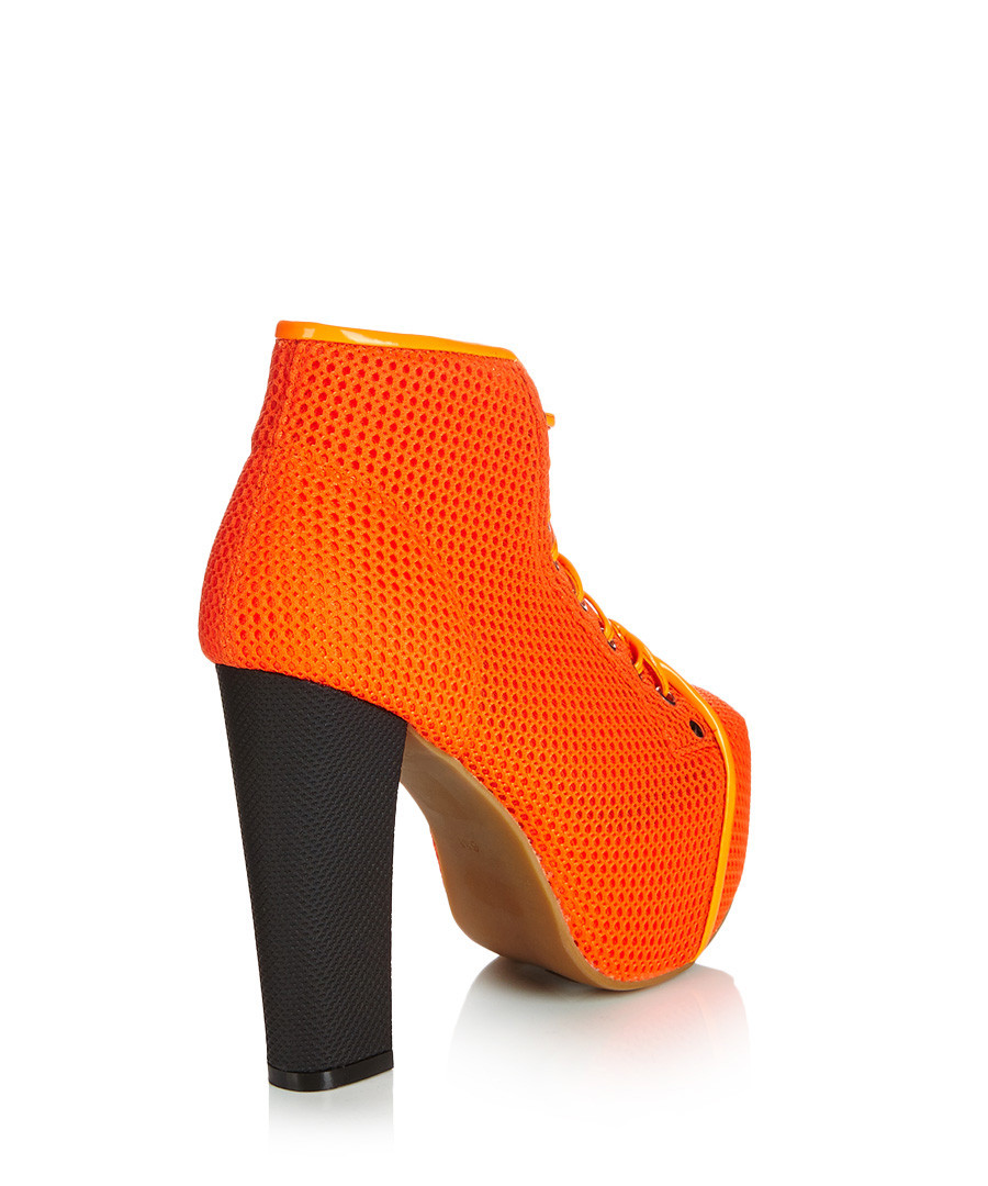 jeffrey campbell lita orange mesh ankle boots designer footwear sale jeffrey campbell. Black Bedroom Furniture Sets. Home Design Ideas