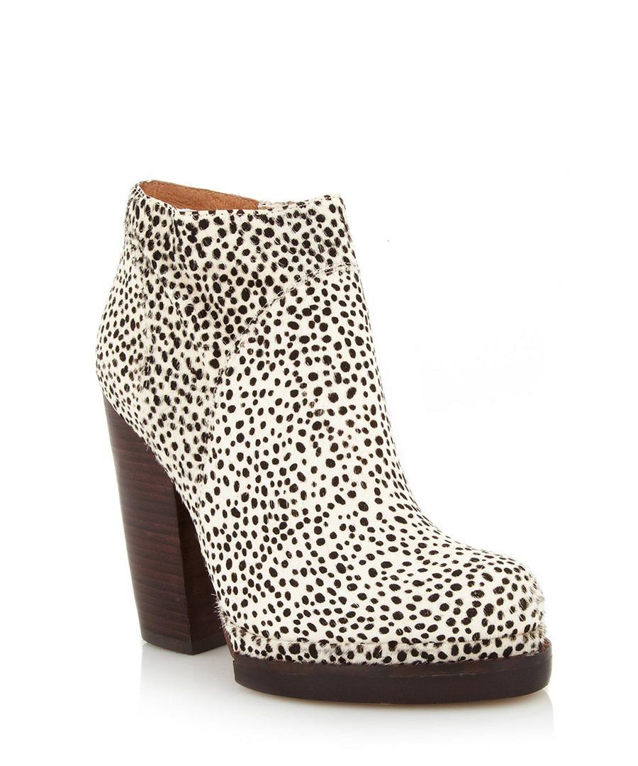 jeffrey campbell loza beige ponyskin ankle boots designer footwear sale jeffrey campbell. Black Bedroom Furniture Sets. Home Design Ideas
