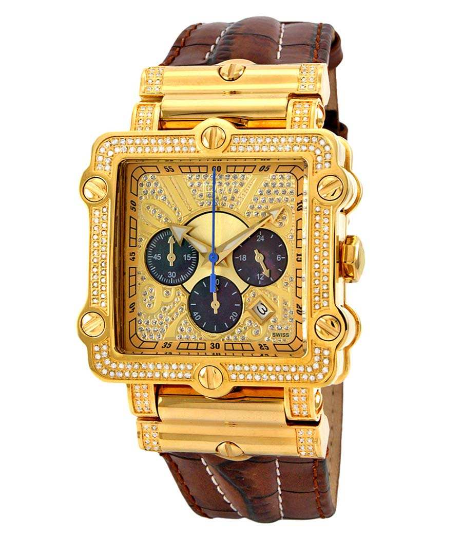 Phantom gold-tone diamond watch Sale - JBW