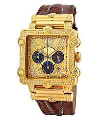Phantom gold-tone diamond watch