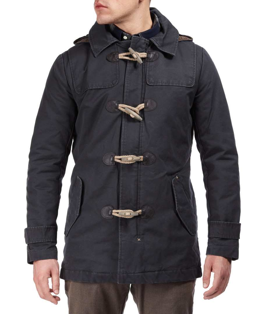green park duffle coat in pirate sale selected homme. Black Bedroom Furniture Sets. Home Design Ideas
