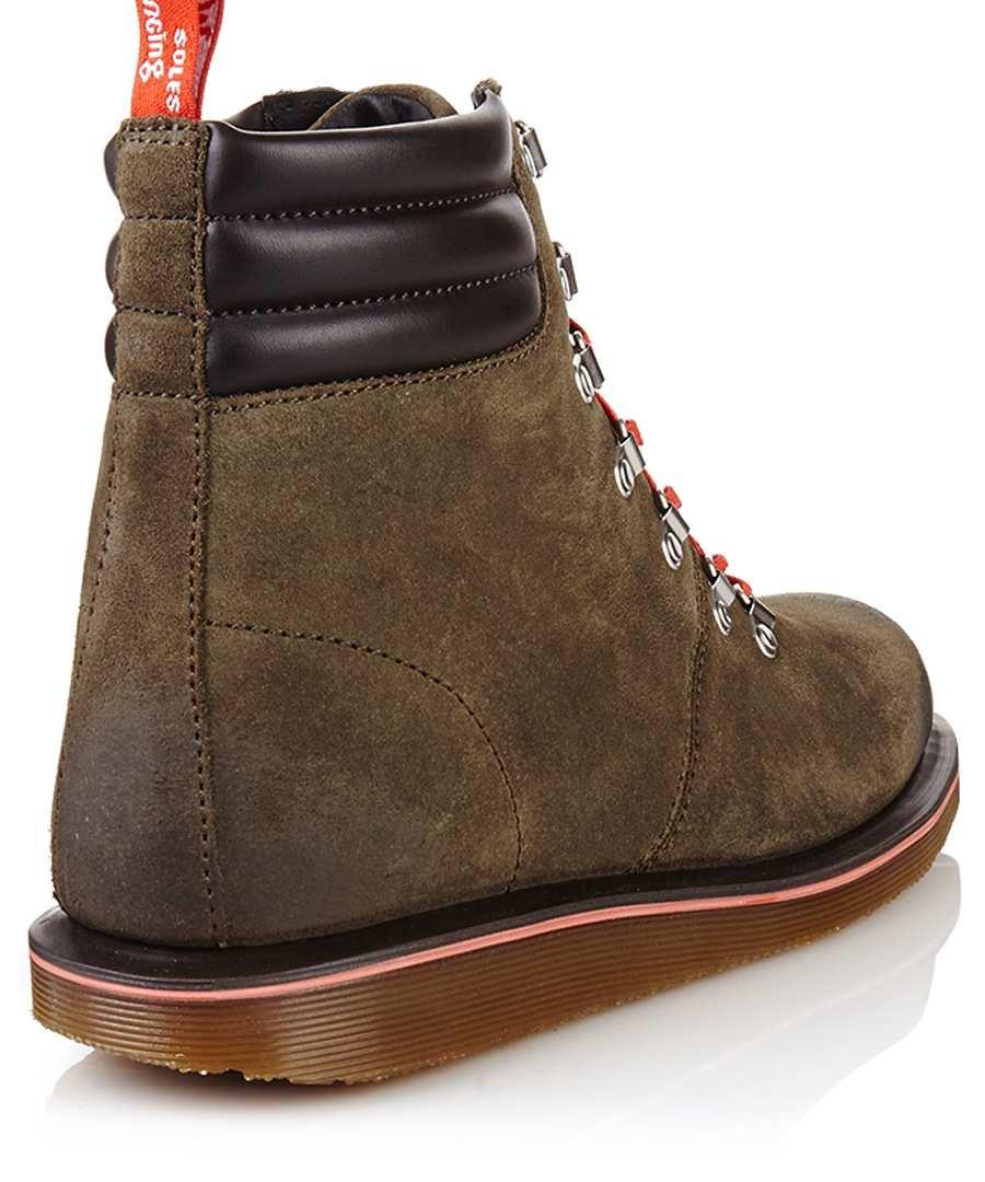 dr martens morgan khaki leather boots designer footwear. Black Bedroom Furniture Sets. Home Design Ideas