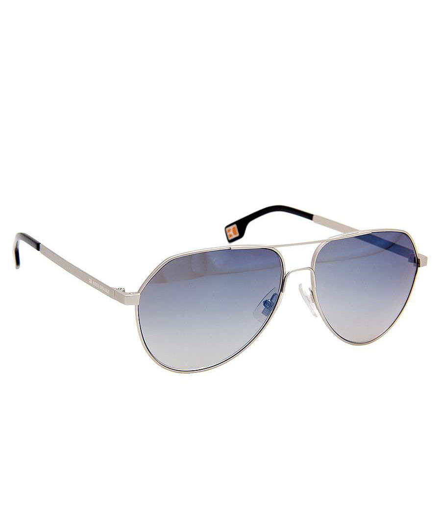 hugo boss orange silver tone metal aviator sunglasses. Black Bedroom Furniture Sets. Home Design Ideas