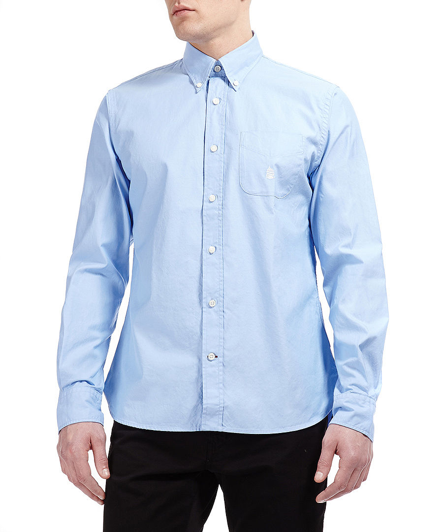 Marina yachting button down shirt in light blue designer for Light blue button down shirt