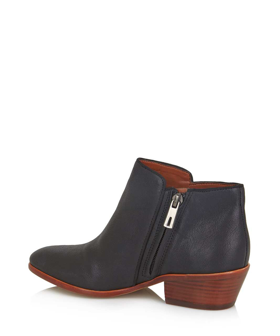sam edelman petty leather ankle boots in black designer