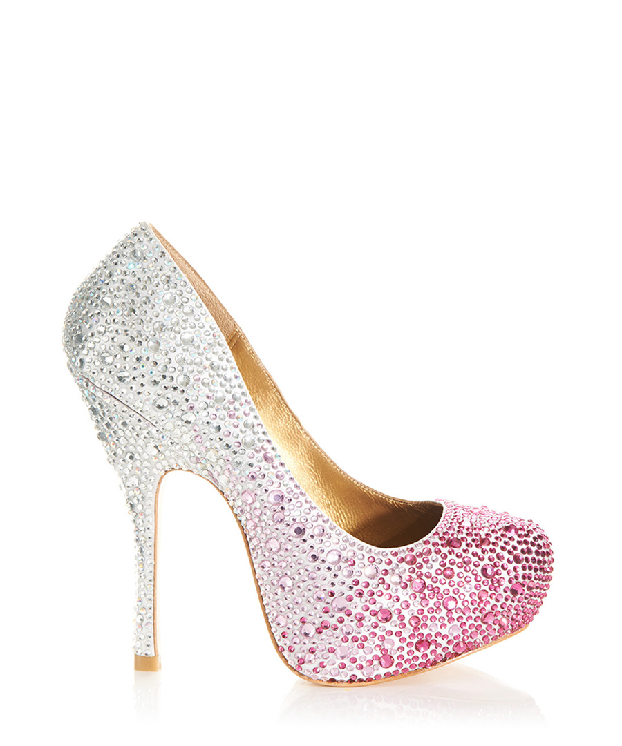 Rio fuchsia and silver high heels Sale - Benjamin Adams