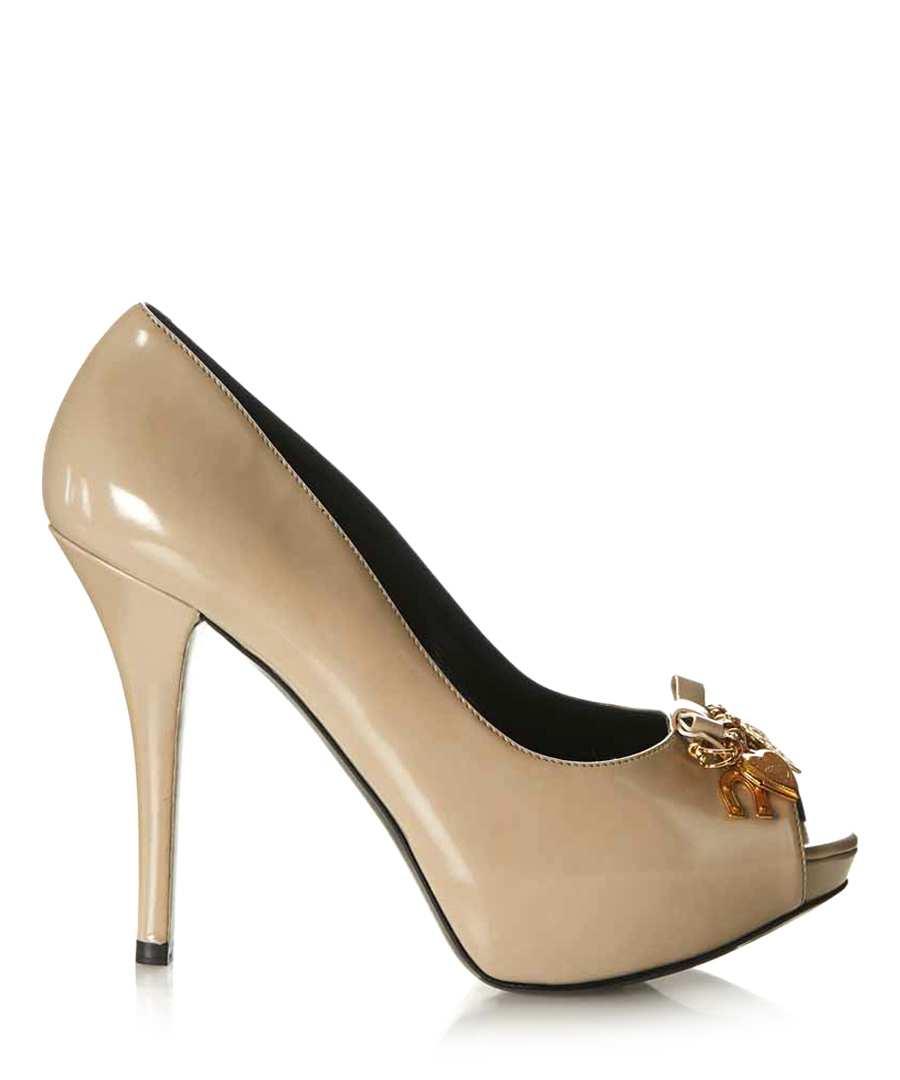 dolce gabbana beige patent high heels designer footwear sale designer boutique shoes. Black Bedroom Furniture Sets. Home Design Ideas