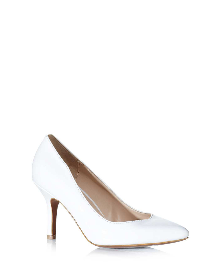 carlton white pointed court shoes designer