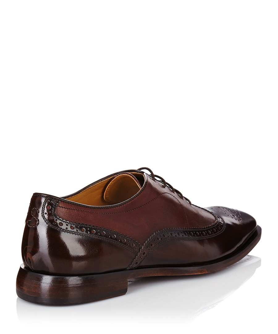 oliver sweeney christie two tone brown leather shoes