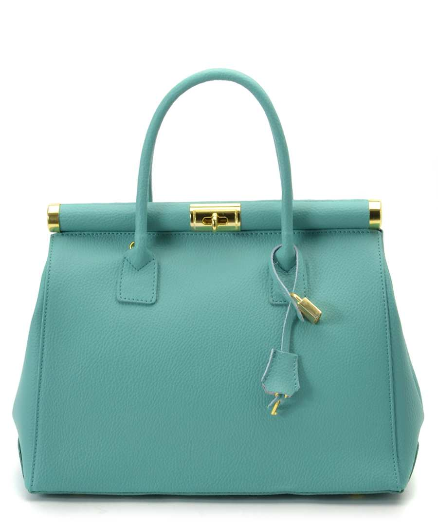 Audrey turquoise leather bag Sale - Bright Bags