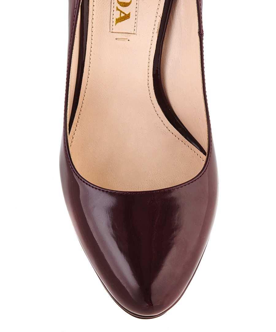 prada dark red leather patent heels designer footwear sale prada shoes clearance secretsales. Black Bedroom Furniture Sets. Home Design Ideas