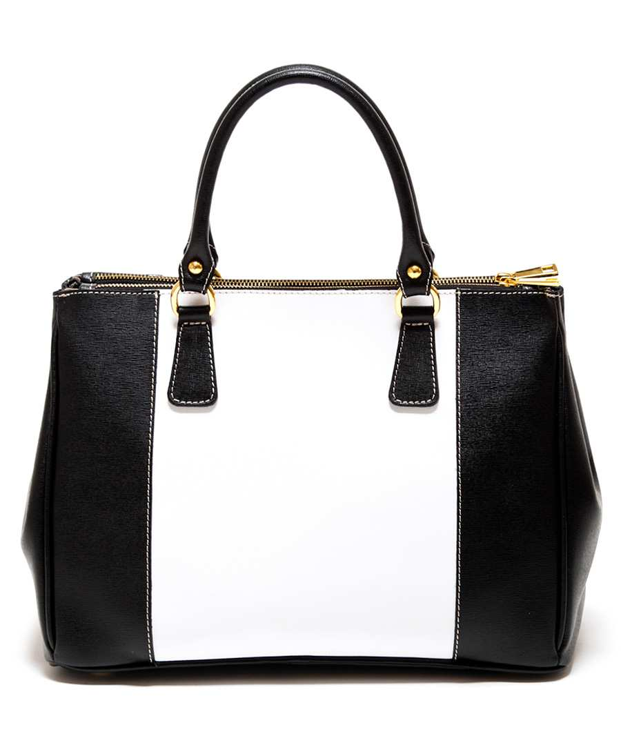 Black contrast leather bag Sale - Renata Corsi