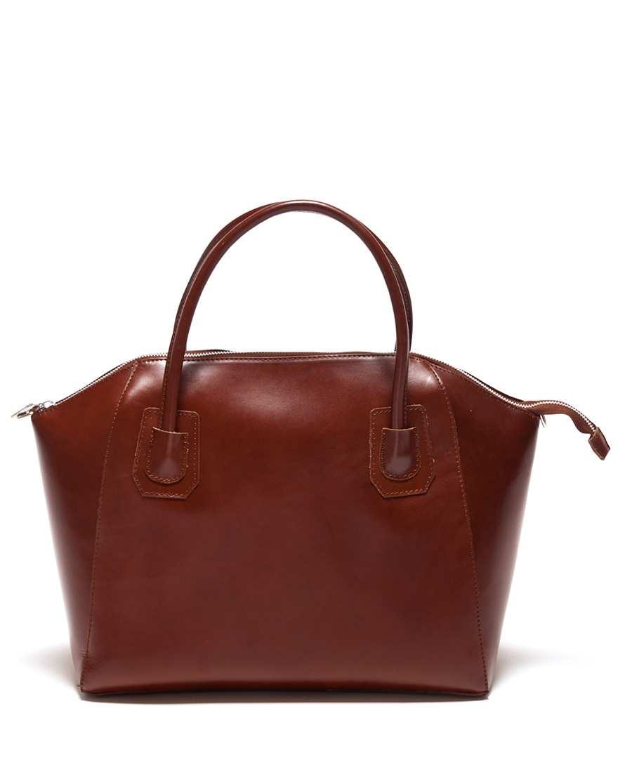 Dark brown shiny leather handbag Sale - Renata Corsi