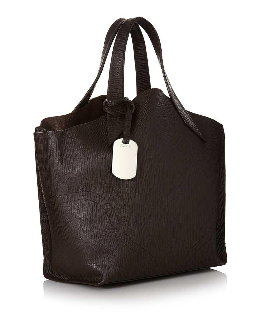 furla jucca small ebony leather tote designer bags sale designer clearance accessories. Black Bedroom Furniture Sets. Home Design Ideas