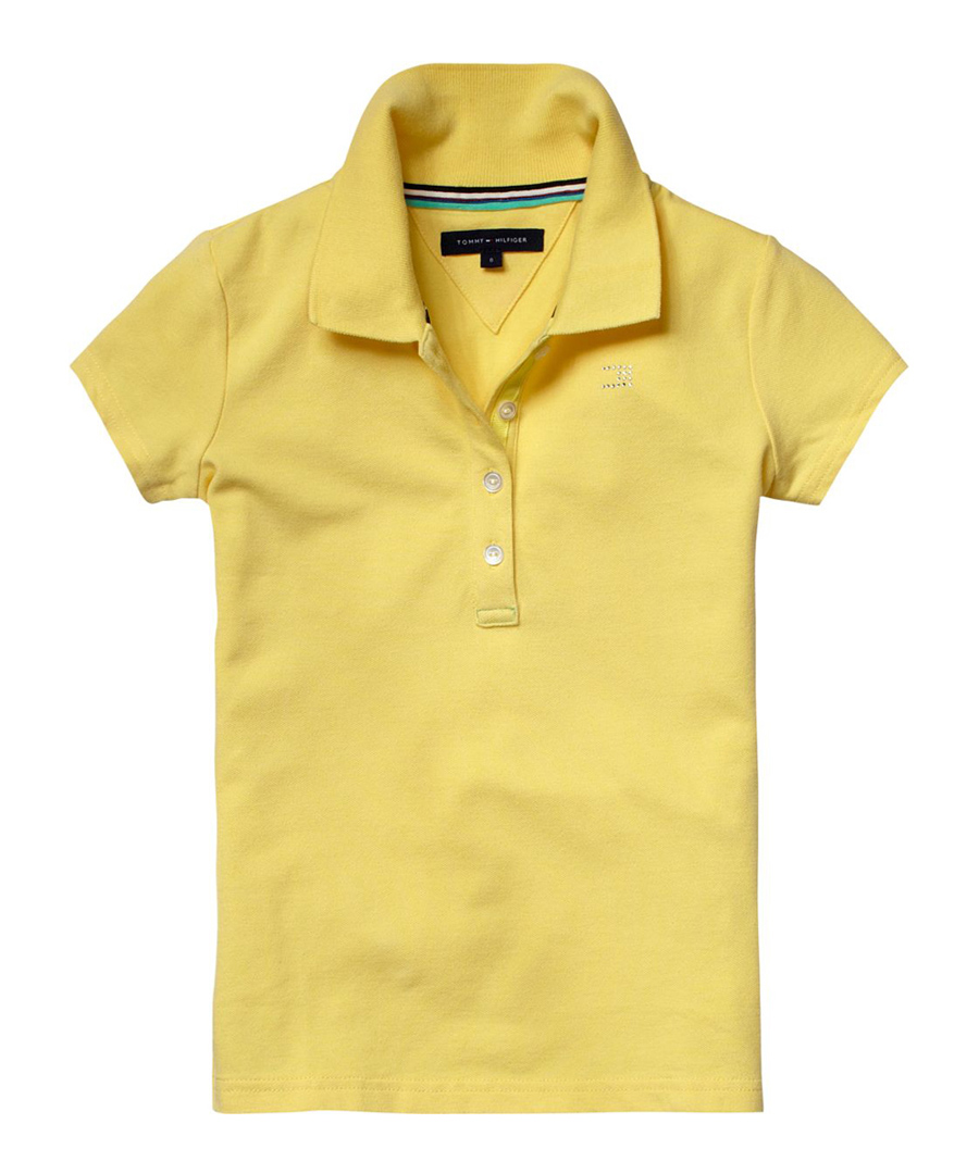 Tommy hilfiger girl 39 s popcorn fitted polo shirt designer for Polo shirts clearance sale