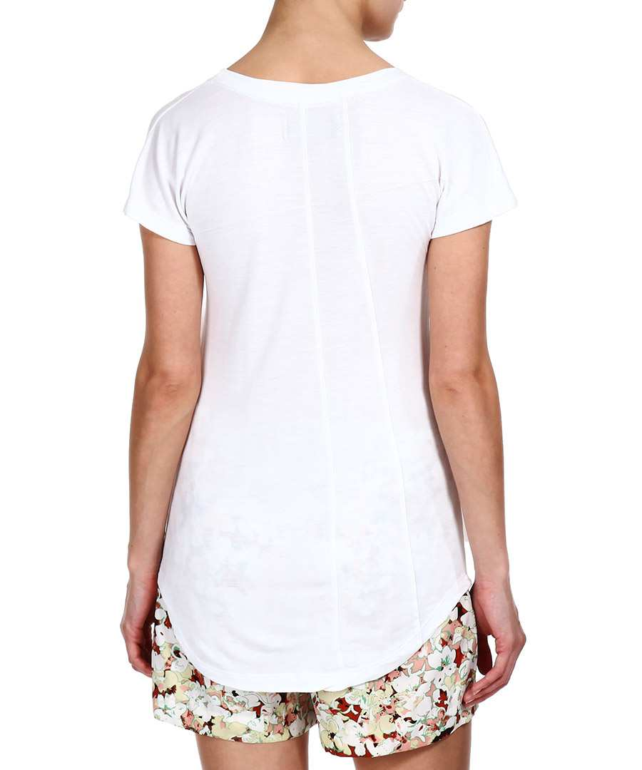 Religion white skull applique t shirt designer topwear for Applique shirts for sale