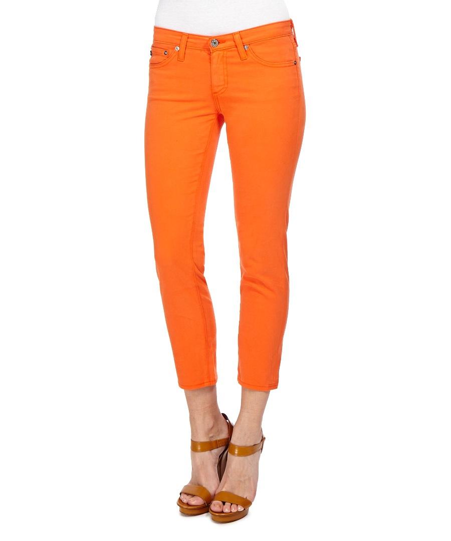 The Stilt cropped orange jeans Sale - AG Denim