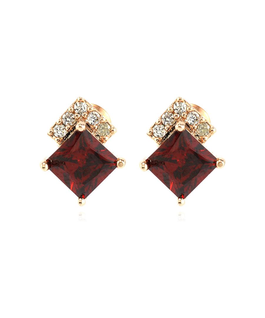 Red cubic earrings Sale - Gaia