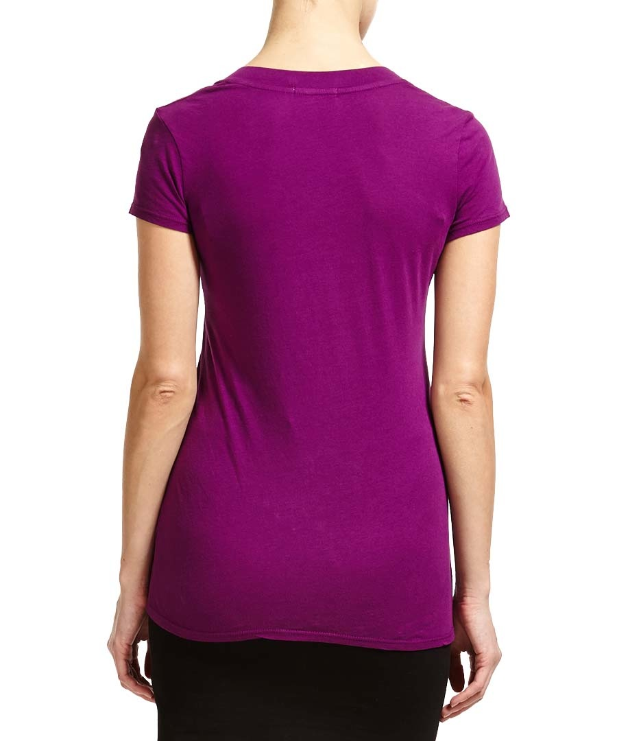 James perse magenta relaxed cotton t shirt designer for James perse t shirts sale
