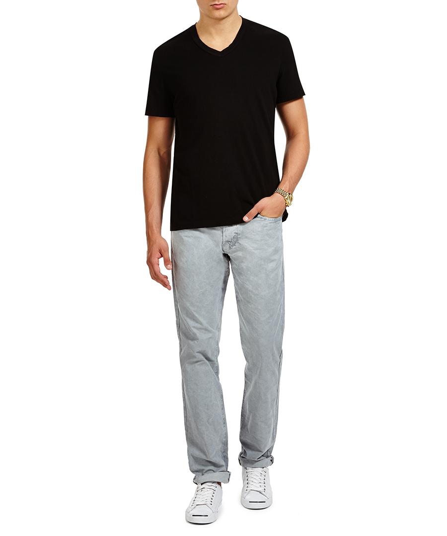 James perse black sanded v neck t shirt designer topwear for James perse t shirts sale
