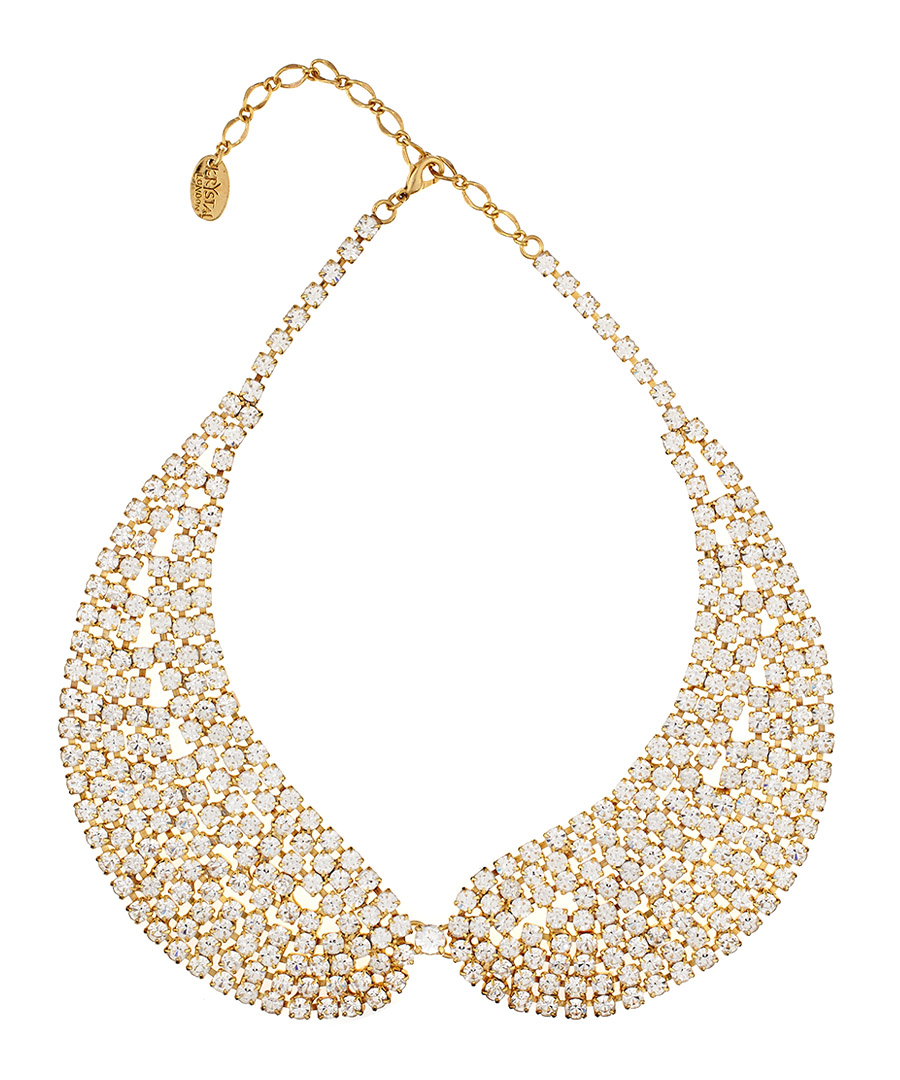 Gold Petal Pan collar necklace Sale - Krystal London