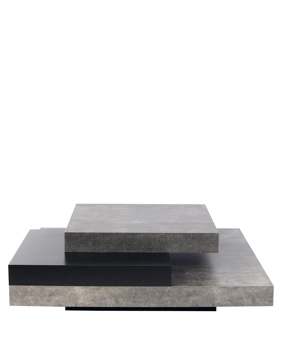 Slate pure black coffee table Sale - temahome