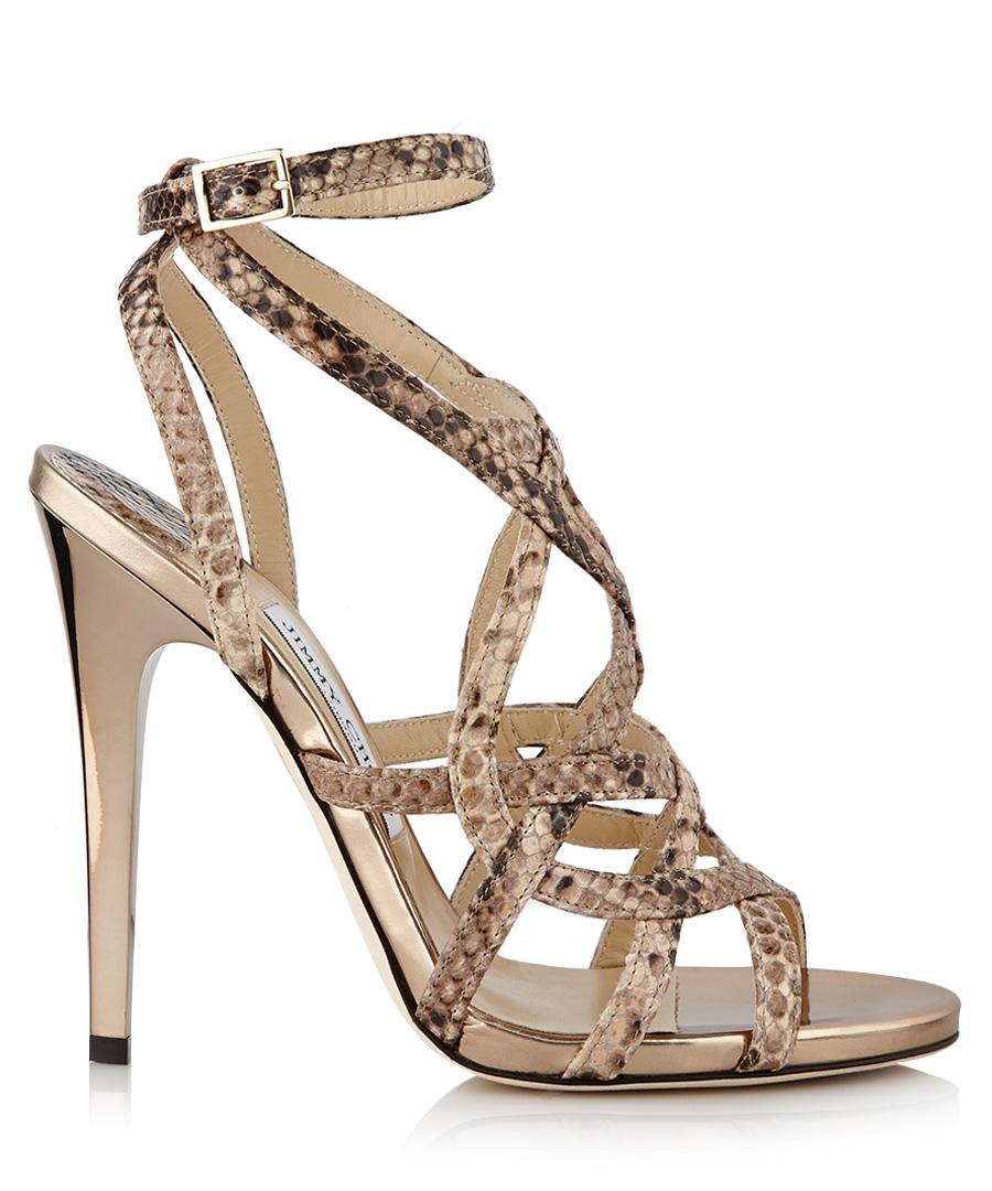 jimmy choo delphia light desert snakeskin heels designer footwear sale outlet secret sales. Black Bedroom Furniture Sets. Home Design Ideas