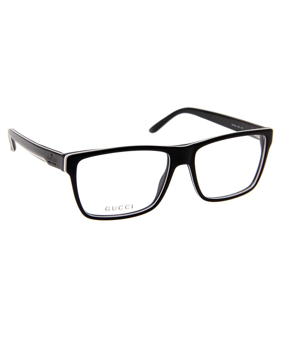 gucci black and white d frame glasses designer