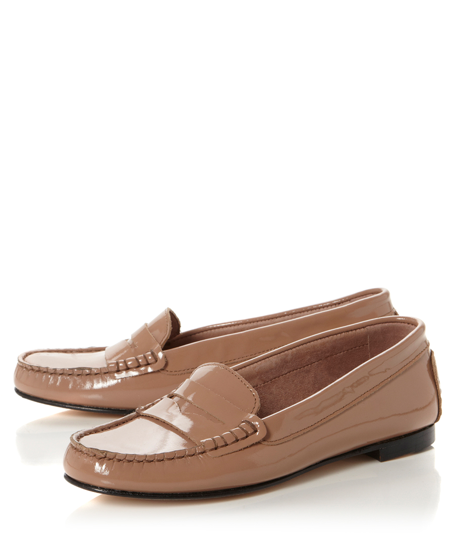 Pied A Terre Ginsberg Nude Patent Leather Shoes Designer